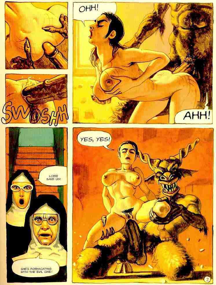 Порно дьявол комикс
